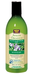Гель для душа Розмарин - Rosemary bath and shower gel, AVALON ORGANICS (Авалон Органикс), 355 мл