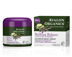 Ночной Восстанавливающий крем с лавандой  - Ultimate Night Cream, AVALON ORGANICS (Авалон Органикс), 57 г